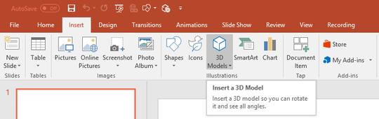 Microsoft、「Office」に3Dモデルを挿入する機能を追加